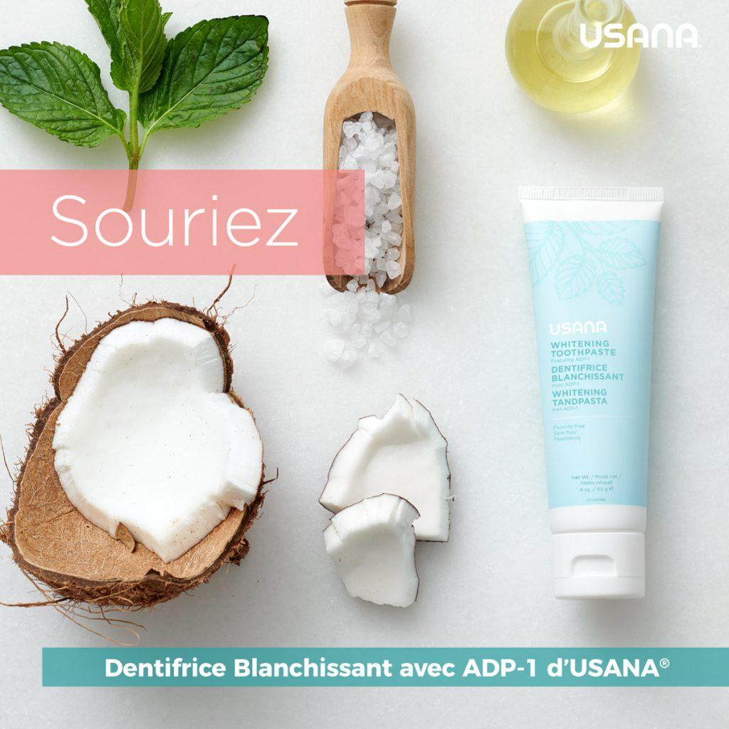 Dentifrice blanchissant USANA chez Renéessence